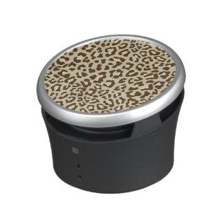 Leopard Print Brown, Tan, Peach Bluetooth Speaker