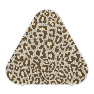 Leopard Print Brown, Tan, Peach Speaker