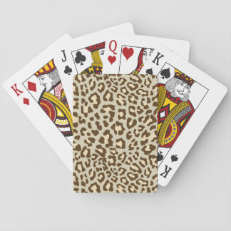 Leopard Print Brown, Tan, Peach Playing Cards
