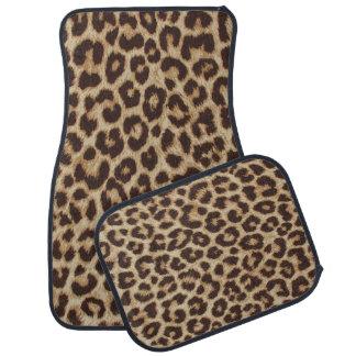 Leopard Print Car Floor Mats