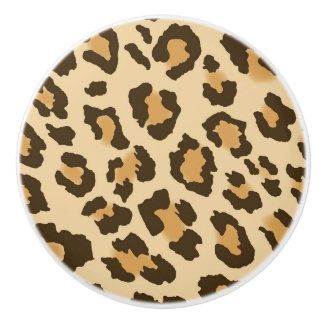Leopard Print Ceramic Drawer Knob Ceramic Knob