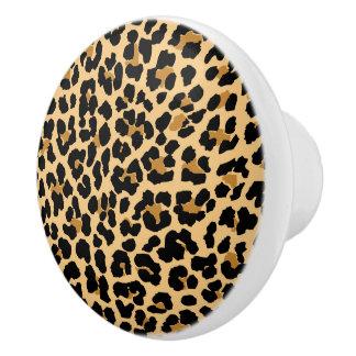 Leopard Print Ceramic Knobs