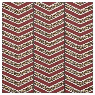 Leopard Print Chevron Fabric