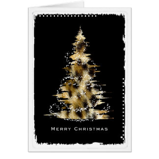 Leopard Print Christmas Tree Card