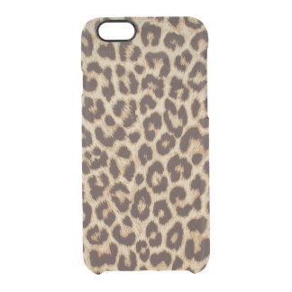 Leopard Print Clearly Deflector iPhone 6 Case