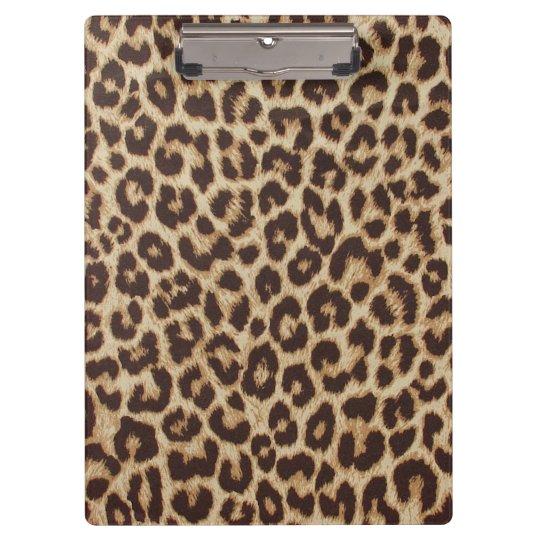 Leopard Print Clipboard