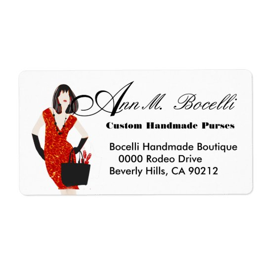 Leopard Print  Clothing Handmade Business Shipping Label