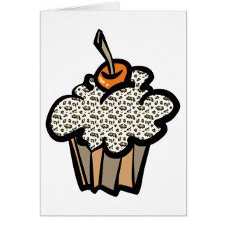 leopard print cupcake card
