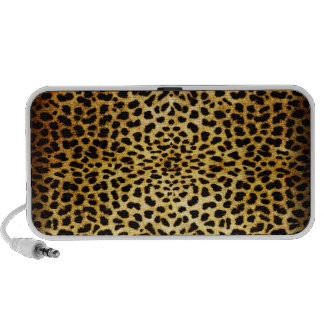 Leopard Print Doodle Travel Speakers