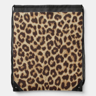 Leopard Print Drawstring Backpack