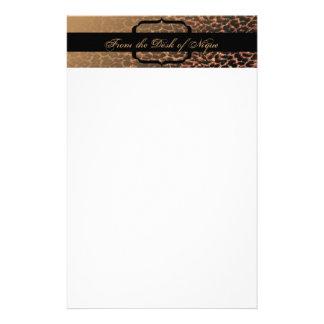 Leopard Print Elegance Stationery