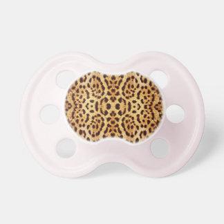 Leopard print elegant fur baby pacifiers