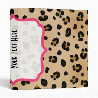 Leopard Print Fancy Binder