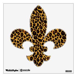 Leopard Print Fleur de Lis Wall Decal