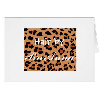 leopard_print gift certificate card
