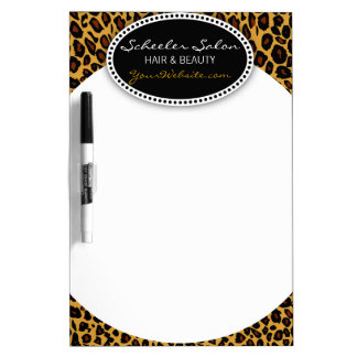 Leopard Print Hair & Beauty Dry Erase Board