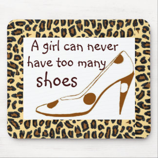 Leopard Print High Heel Shoes Mouse Pad