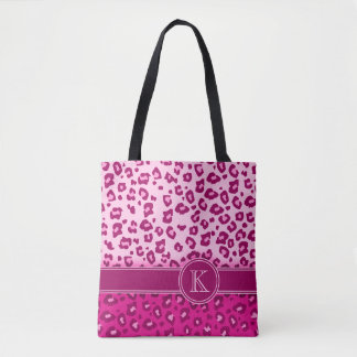 Leopard print hot pink monogram animal print bag