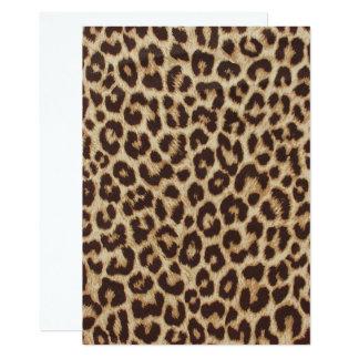Leopard Print Invitation Card