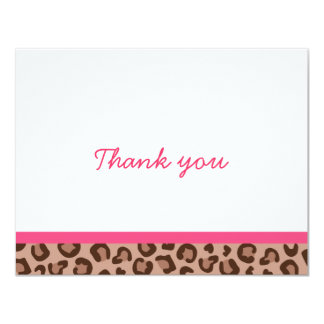 Leopard Print Jungle Thank You Note Cards