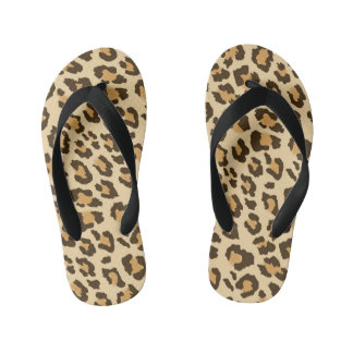 Leopard Print Kid's Flip Flops