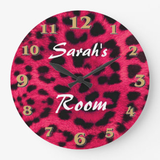 Leopard Print Large Clock