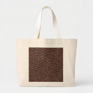 Leopard Print Large Tote Bag