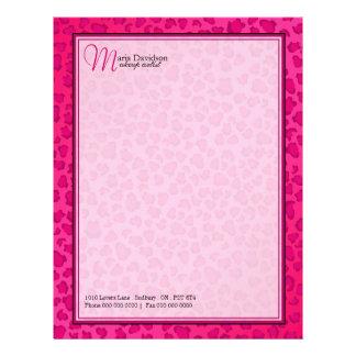 Leopard Print Letterhead