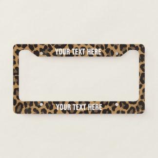 Leopard Print License Plate Frame