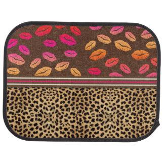 Leopard Print Lips Kisses Car Mat