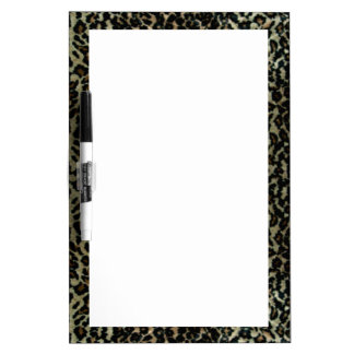 Leopard Print Medium Dry Erase Board