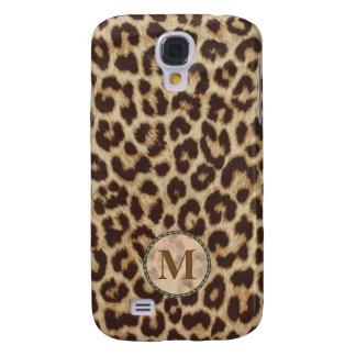 Leopard Print Monogram Samsung Galaxy S4 Case