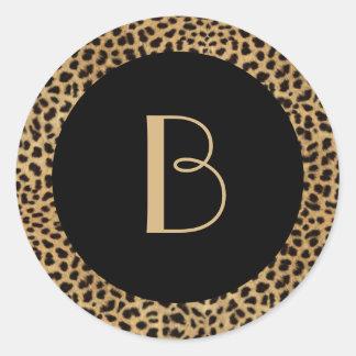 Leopard Print Monogram Sticker