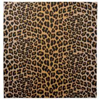 Leopard print napkin