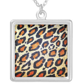 Leopard print neckless silver plated necklace