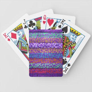 Leopard Print on Wood #2 Poker Deck