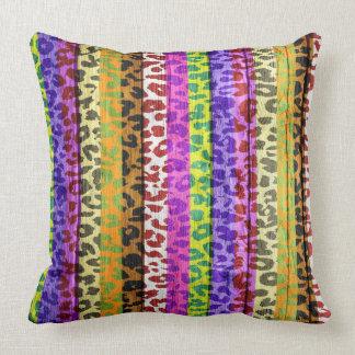 Leopard Print on Wood #2 Throw Pillow