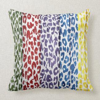 Leopard Print on Wood #3 Throw Pillow