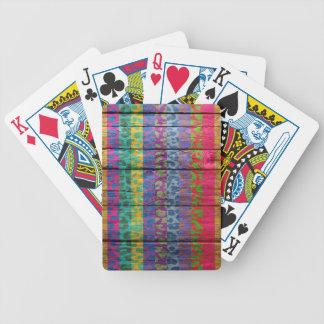 Leopard Print on Wood #4 Poker Deck