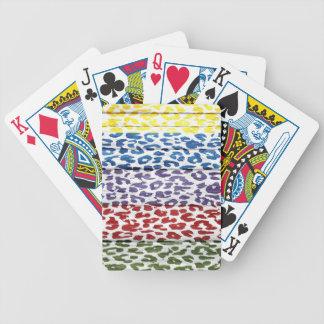 Leopard Print on Wood #5 Poker Deck