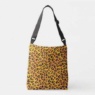 Leopard Print Orange Yellow Print Crossbody Bag