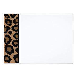 Leopard Print Panel Invitation
