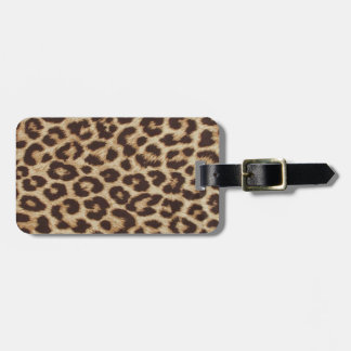 Leopard Print Party Luggage Tag