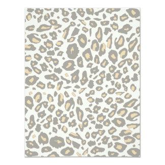 """Leopard print pattern 4.25"""" x 5.5"""" invitation card"""