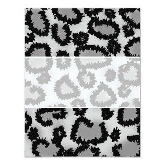 Leopard Print Pattern, Black and Gray. Personalized Announcement