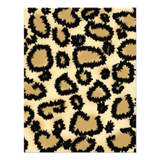 Leopard Print Pattern Brown and Black Custom Announcement