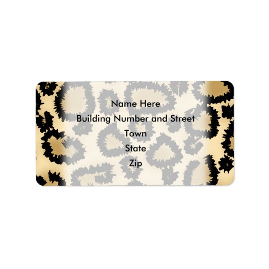Leopard Print Pattern, Brown and Black. Label