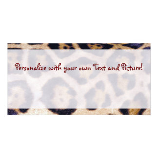 Leopard Print Pattern Customizable Photo Card