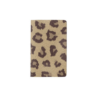 Leopard Print Pattern Pocket Moleskine Notebook