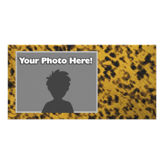 Leopard Print Personalized Photo Card